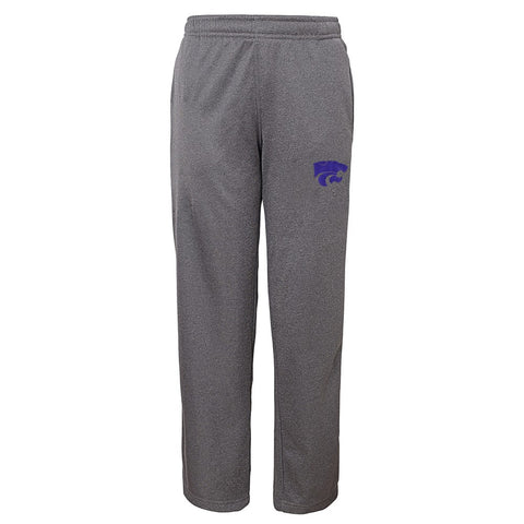 Kansas State Wildcats Aggies NCAA Basic Team Logo Grey Track Pants Youth (S-XL)