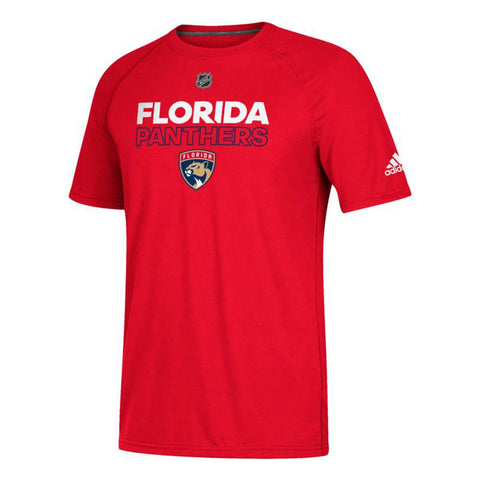 Florida Panthers NHL Adidas Men's Red 2017 Authentic Ice Graphic T-Shirt