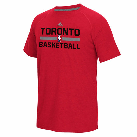 Toronto Raptors NBA Men's Red On-Court Graphic Ultimate T-Shirt