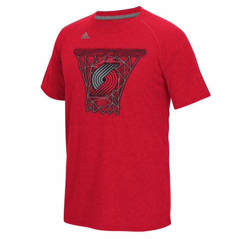 Portland Trail Blazers NBA Men's Red Net Web Graphic Ultimate Climalite T-Shirt