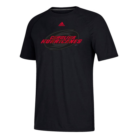 "Carolina Hurricanes NHL Adidas Men's Black ""Shift"" Team Logo Performance T-Shirt"