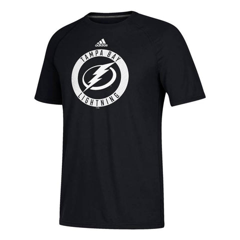 Tampa Bay Lightning NHL Adidas Men's Black 2017 Practice Graphic T-Shirt