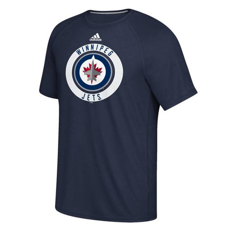 Winnipeg Jets NHL Adidas Men's Navy Blue 2017 Practice Graphic T-Shirt