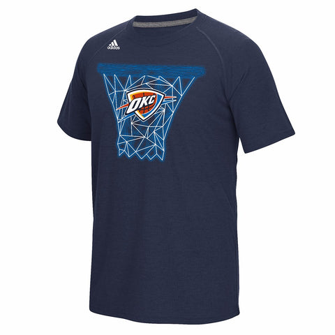 Oklahoma City Thunder NBA Men's Navy Blue Net Web Ultimate Climalite T-Shirt