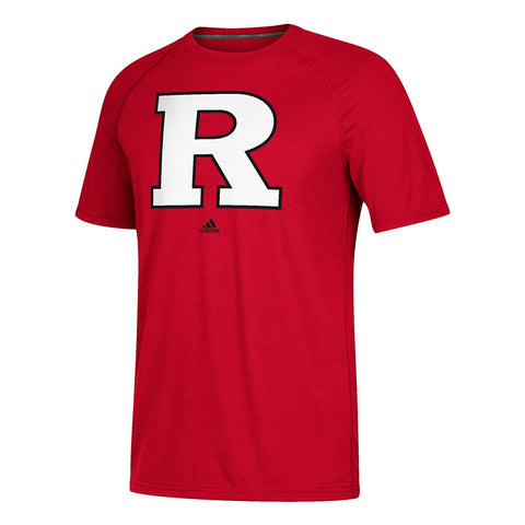 Rutgers Scarlet Knights NCAA Adidas Red Primary School Logo Climalite T-Shirt