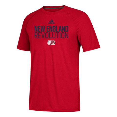 New England Revolution MLS Adidas Men's Red 2019 Team Graphic T-Shirt