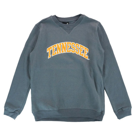 Tennessee Volunteers NCAA Long Sleeve Arch Grey Crewneck Sweatshirt Fleece Youth