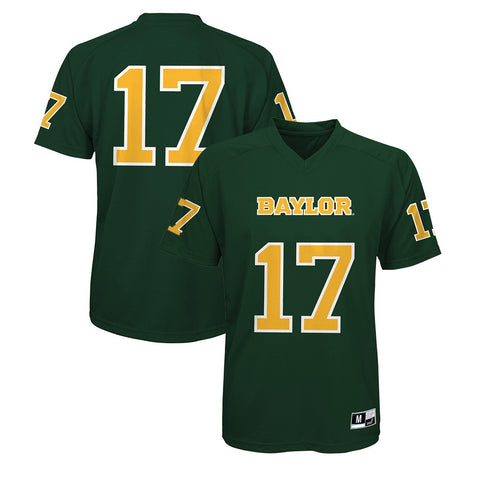 Baylor Bears NCAA Youth #17 Green Performance Jersey