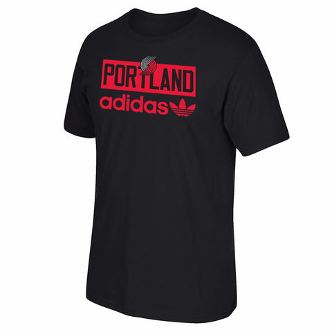 "Portland Trail Blazers Adidas Originals ""Straight Talk"" Graphic T-Shirt Men's LG"
