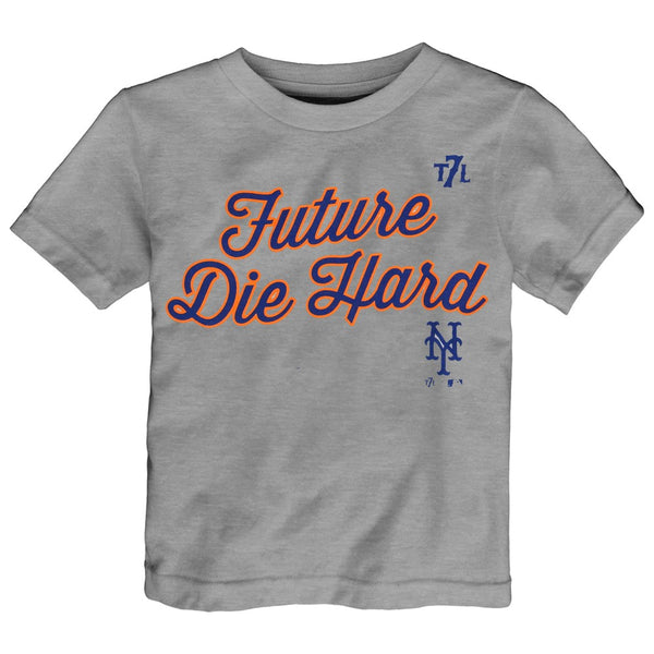 "New York Mets Majestic MLB Toddler Grey ""Future Die Hard"" T-Shirt"