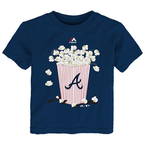 "Atlanta Braves Majestic MLB Toddler Navy ""Baseball Popcorn"" Graphic T-Shirt"