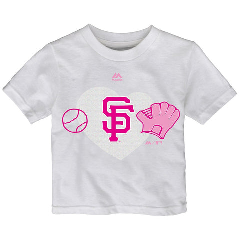 "San Francisco Giants Majestic MLB Toddler White ""Just Love"" Graphic T-Shirt"