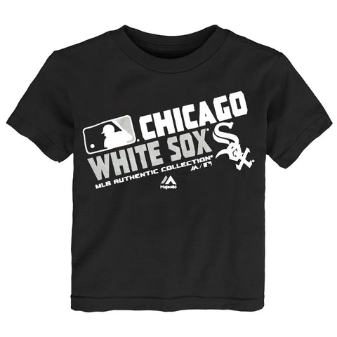 "Chicago White Sox MLB Majestic Toddler Black ""AC Team Choice"" T-Shirt"