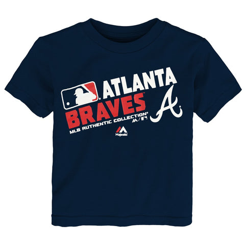 "Atlanta Braves MLB Majestic Toddler Navy Blue ""AC Team Choice"" T-Shirt"