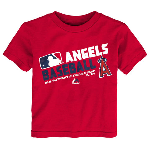 "Los Angeles Angels MLB Majestic Toddler Red ""AC Team Choice"" T-Shirt"