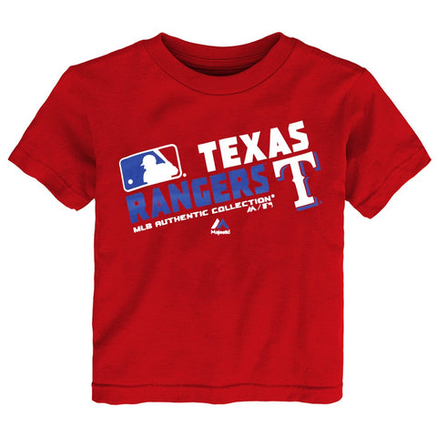 "Texas Rangers MLB Majestic Toddler Red ""AC Team Choice"" T-Shirt"
