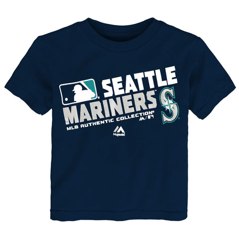 "Seattle Mariners MLB Majestic Toddler Navy Blue ""AC Team Choice"" T-Shirt"