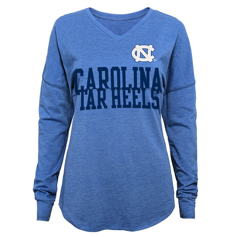 "North Carolina Tar Heels NCAA Girls Light Blue ""Split"" Long Sleeve T-Shirt"