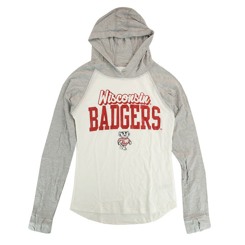 "Wisconsin Badgers Outerstuff NCAA  White ""Old School"" Long Sleeve T-Shirt"