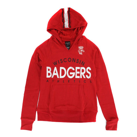 "Wisconsin Badgers NCAA Girls Red ""Victory"" Graphic Pullover Hoodie"