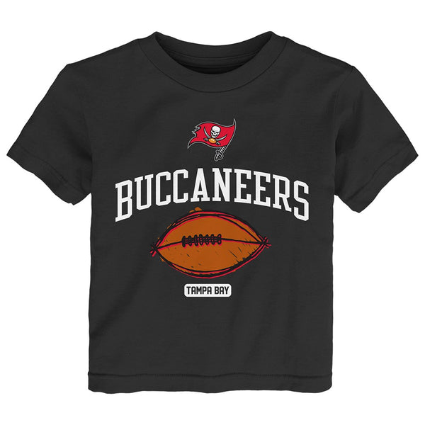 "Tampa Bay Buccaneers Outerstuff NFL Toddler Black ""Hand Drawn"" T-Shirt"