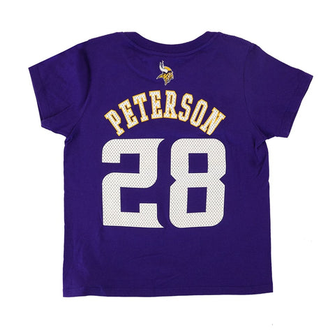 "Adrian Peterson NFL Minnesota Vikings ""Mainliner"" Jersey T-Shirt Toddler (2T-4T)"