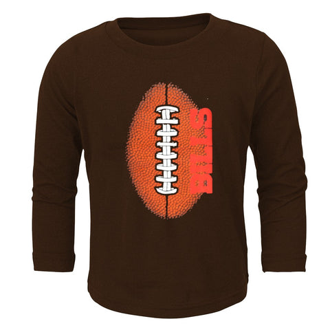 "Buffalo Bills Outerstuff NFL Toddler Brown ""Mini Football"" Long Sleeve T-Shirt"