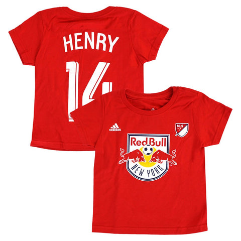 Thierry Henry MLS Adidas New York Red Bulls Red Player Jersey T-Shirt Toddler