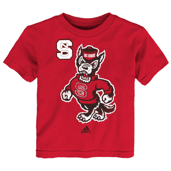"NC State Wolfpack Adidas NCAA Toddler Red ""Tight Spiral"" T-Shirt"