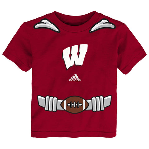Wisconsin Badgers Adidas NCAA Toddler Red Super Player Graphic T-Shirt
