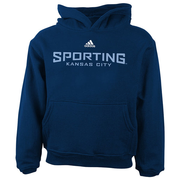 Sporting Kansas City MLS Adidas Team Wordmark Logo Pullover Hoodie Toddler 2T-4T
