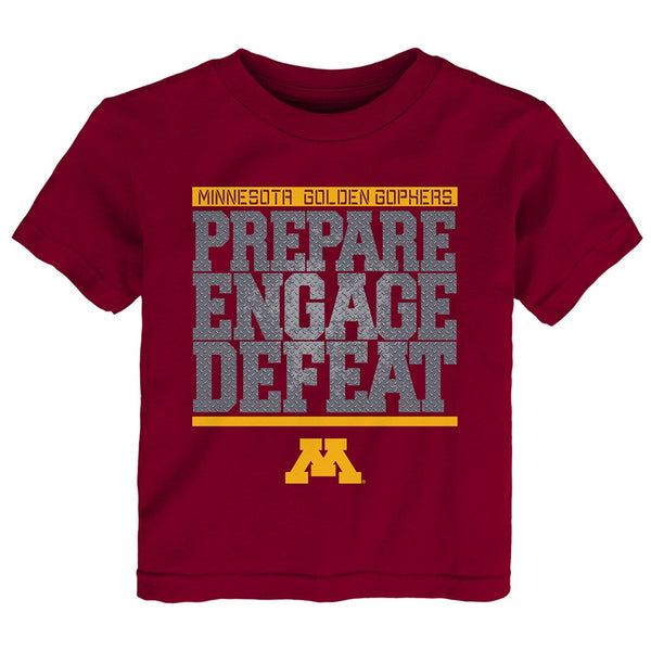 "Minnesota Golden Gophers NCAA Toddler Maroon ""Preparation"" Graphic T-Shirt"