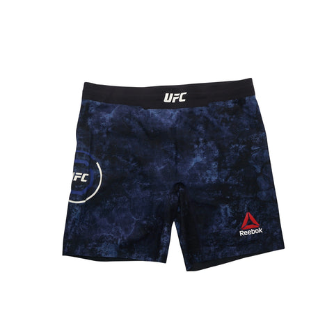 Reebok UFC Women's Navy Blue Fight Night Octagon Long Vale Tudo Shorts CD1019