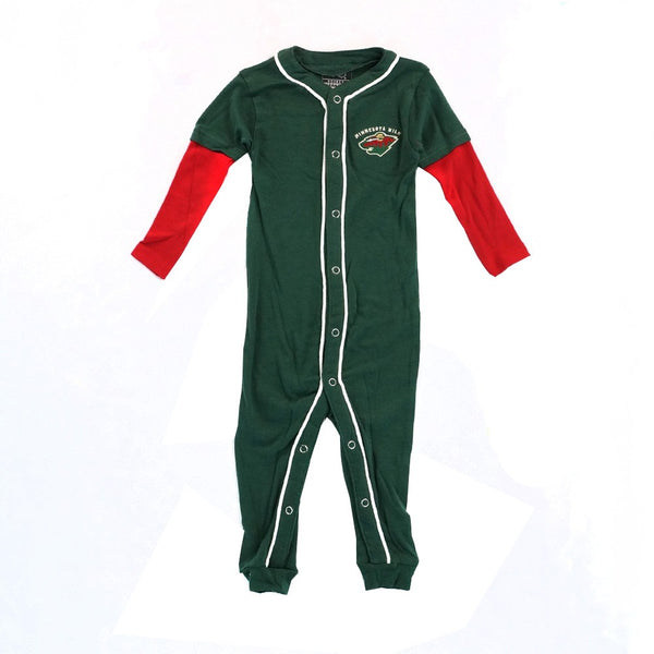 Minnesota Wild NHL Full Button Down Team Color Sleeper Blanket Infant 3-18 Months