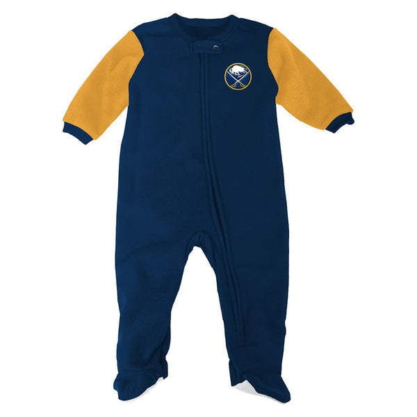 Buffalo Sabres NHL Full Zip Front Team Color Blanket Sleeper Coverall Infant