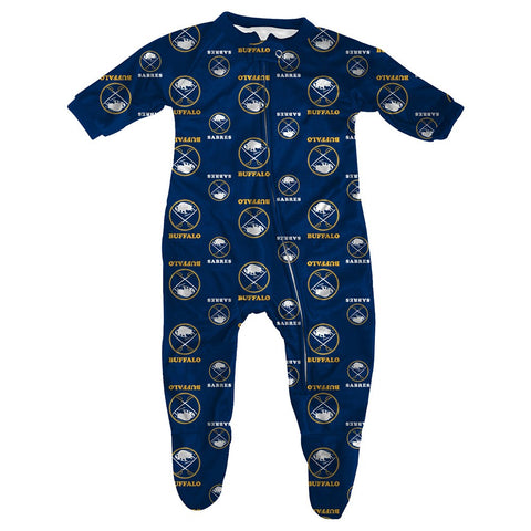 "Buffalo Sabres NHL ""All Over Print"" Full Zip Raglan Coverall Infant (3-9 Months)"
