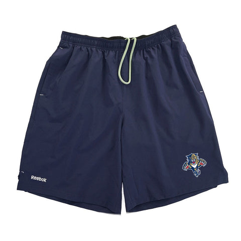 Florida Panthers Reebok Center Ice TNT PlayDry Performance Navy Shorts Men's