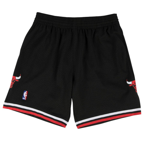 Chicago Bulls NBA Men's Mitchell & Ness 1997-98 Alternate Black Swingman Shorts