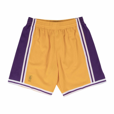 1996-97 Los Angeles Lakers Mitchell & Ness Home Gold Swingman Throwback Shorts