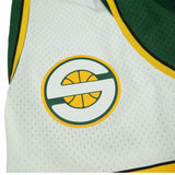 2007-08 Seattle SuperSonics Mitchell & Ness Road Green Throwback Swingman Shorts