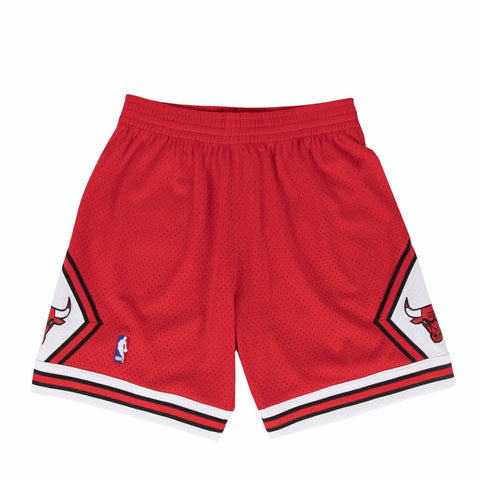 1997-98 Chicago Bulls  Mitchell & Ness Road Red Throwback Swingman Shorts Men's