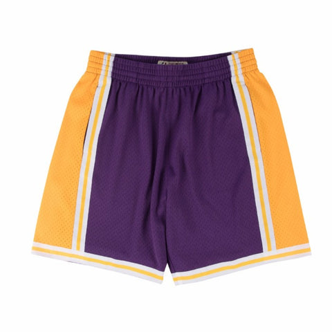 1984-85 Los Angeles Lakers Mitchell & Ness Road Purple Throwback Swingman Shorts
