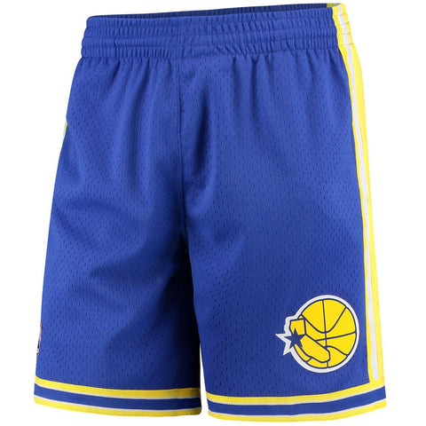 1995-96 Golden State Warriors Mitchell & Ness Blue Throwback Swingman Shorts