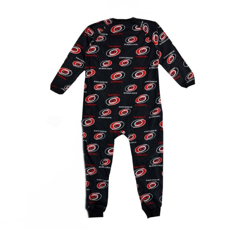 Carolina Hurricanes NHL Full Zip Raglan All Over Print Coverall Toddler (2T-4T)