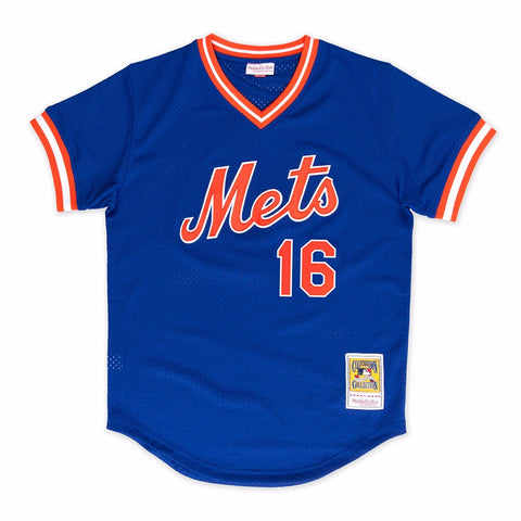 Dwight Gooden 1986 New York Mets Mitchell & Ness Authentic Blue BP Jersey Men's
