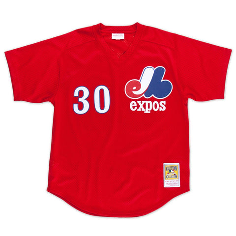 Tim Raines 1989 Montreal Expos Mitchell & Ness Authentic Red BP Jersey Men's
