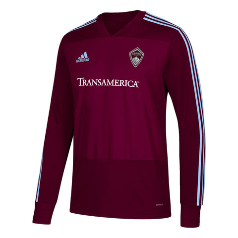 Colorado Rapids MLS Adidas Men's Burgundy Climacool Long Sleeve Training Jersey