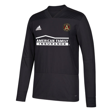 Atlanta United FC MLS Adidas Men's Black Climacool Long Sleeve Training Jersey