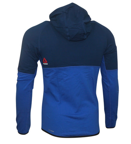 Reebok UFC Men's Blue Speedwick Performance Training Hoodie AJ0152