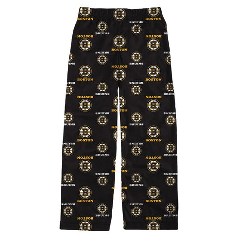 "Boston Bruins NHL ""All Over Print"" Team Color Lounge Pajama Pants Boys Youth"